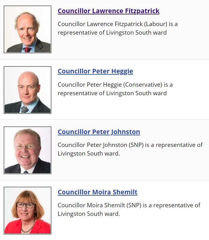 Livingston South Councillors